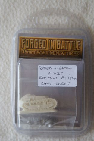 Forged in Battle 15mm F-02B Renault FT 37mm Cast Turret